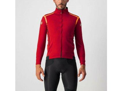 Cyklistická bunda Castelli Perfetto RoS Long Sleeve red 1
