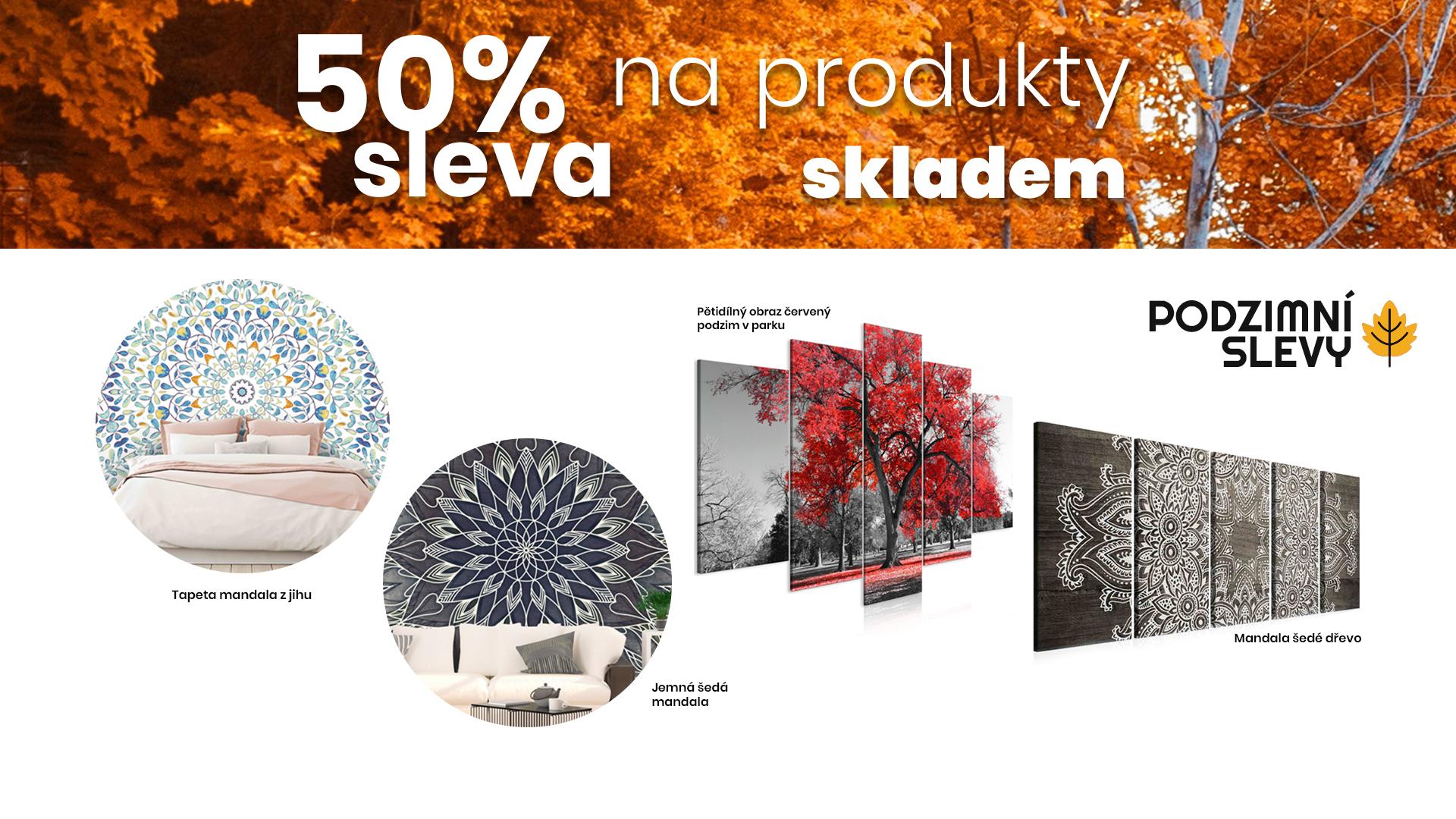 Podzimní sleva 50%