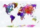 Obrazy světové mapy na plátně