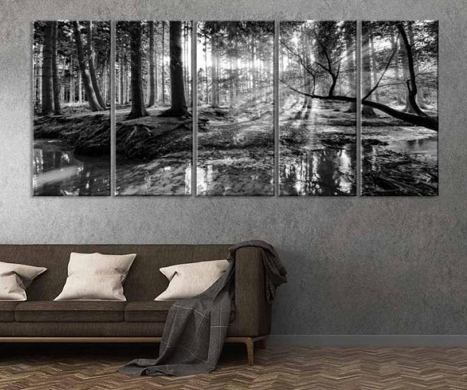 80318-2_obraz-cernobila-pohoda-lesa