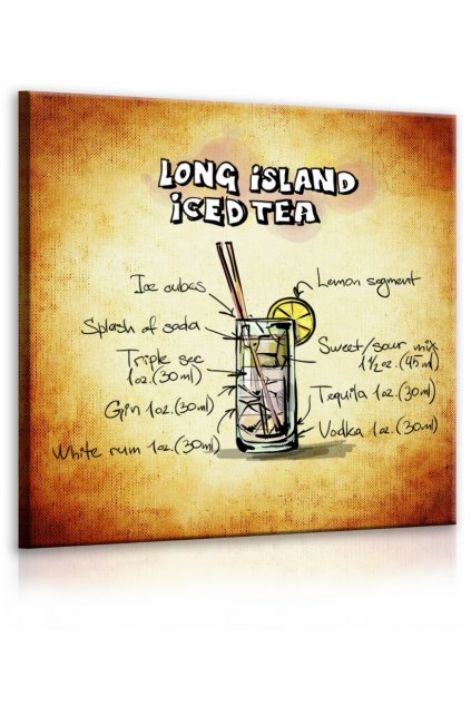 Obraz cedule Long Island Iced Tea