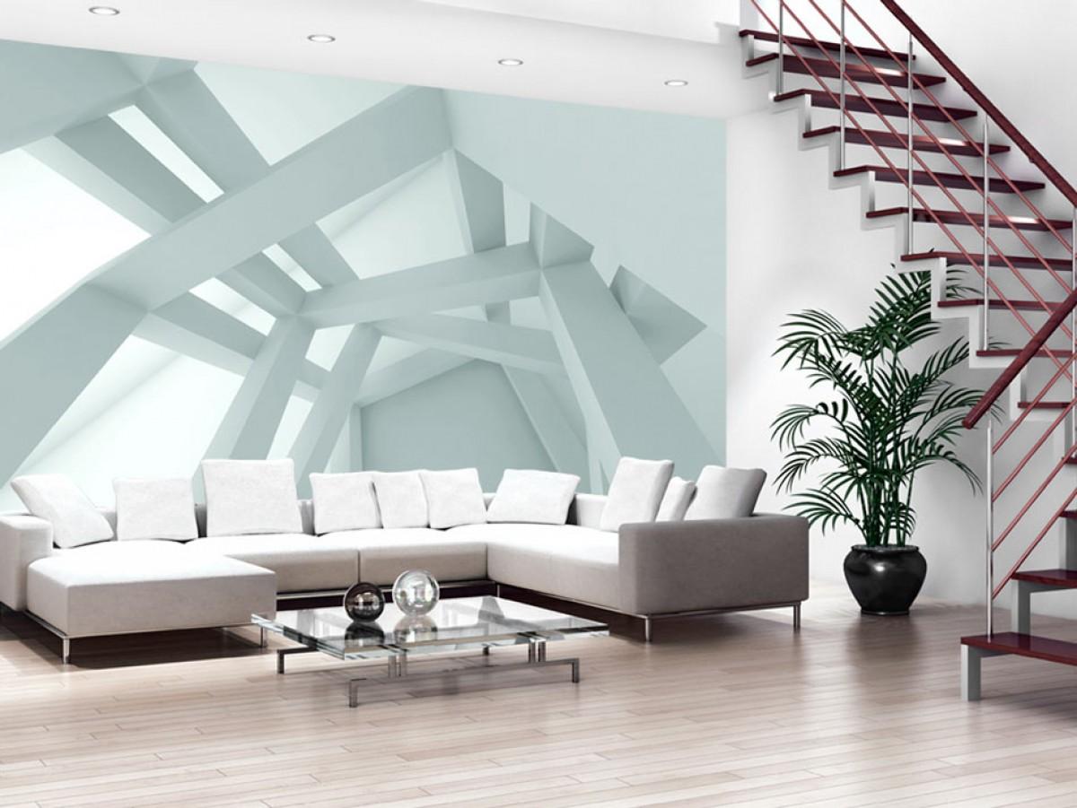 3D tapeta designová konstrukce Rozměry (š x v) a Typ: 450x315 cm - vliesové
