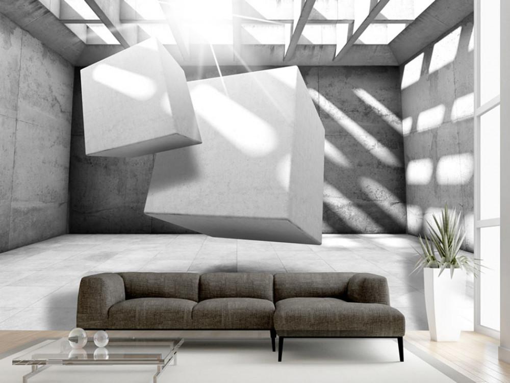 3D tapeta levitace šedá Rozměry (š x v) a Typ: 350x245 cm - vliesové