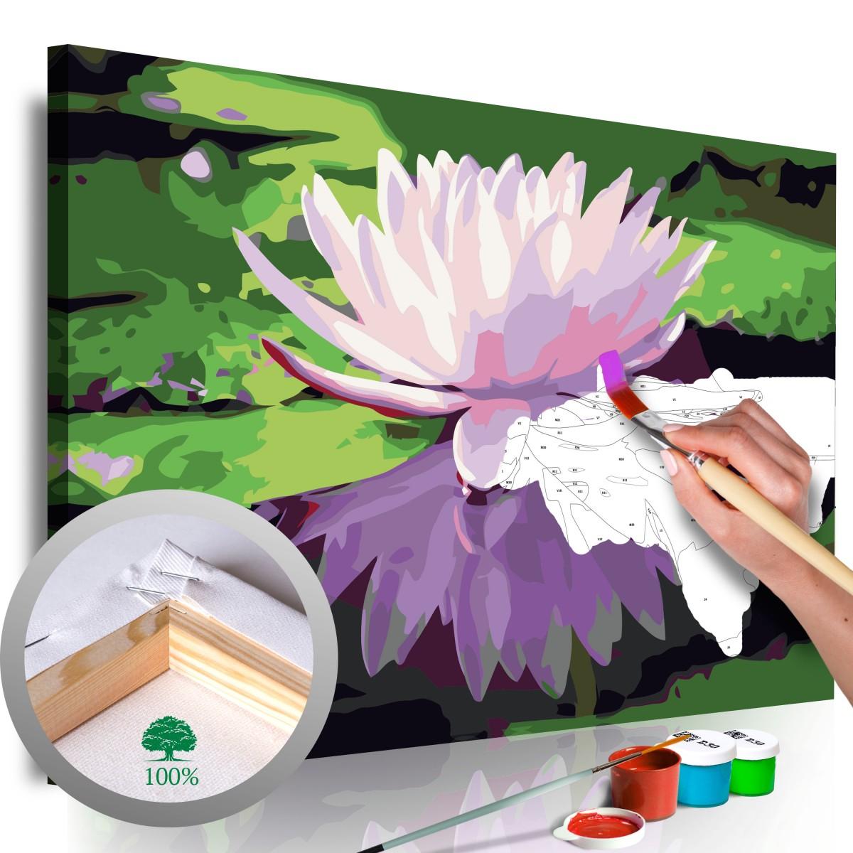 Malování podle čísel - Leknín 60x40 cm