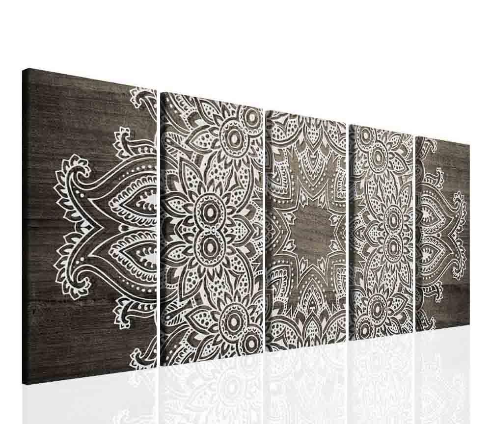 Mandala šedé dřevo 200x80 cm