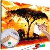 Malování podle čísel - Africký západ slunce