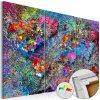 Mapa - barevný vír na korku