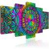 Vícedílný obraz - Mandala barevná
