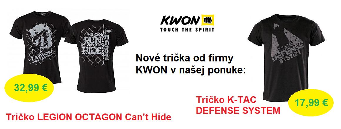Nové trička od firmy KWON