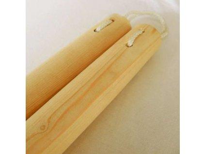 Drevené nunchaku smrekové
