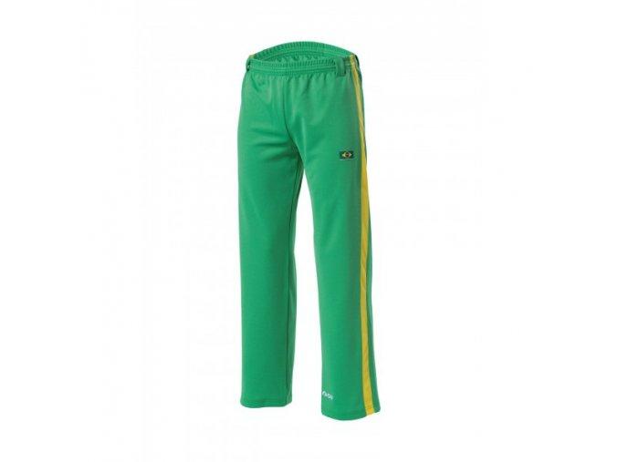 capoeira nohavice zelene