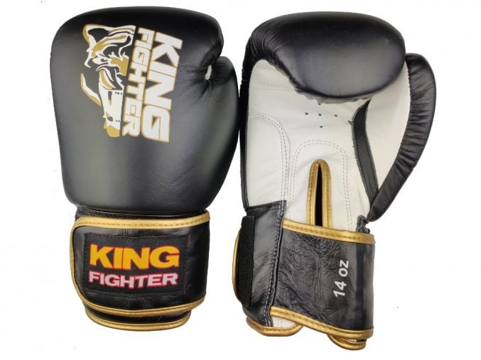 boxerske rukavice king fighter gold