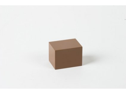 Arithmetic Trinomial Cube: Brown Prism - 4 x 3 x 3