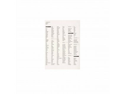 Cabinet Of The World Parts: Set Of Name Stickers