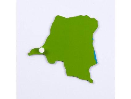 Puzzle Piece Of Africa: Democratic Republic Of The Congo