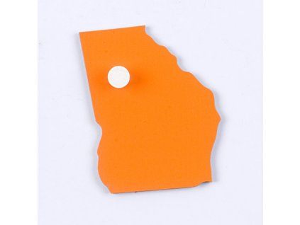 Puzzle Piece Of USA: Georgia