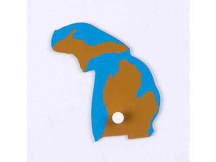 Puzzle Piece Of USA: Michigan