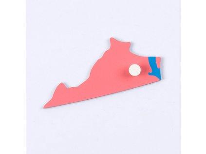 Puzzle Piece Of USA: Virginia