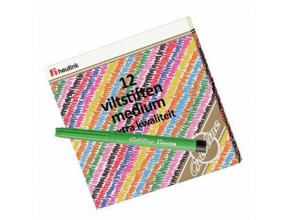 Felt tip pen medium point, 12 colours