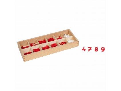 Dřevěné číslice a matematická znaménka