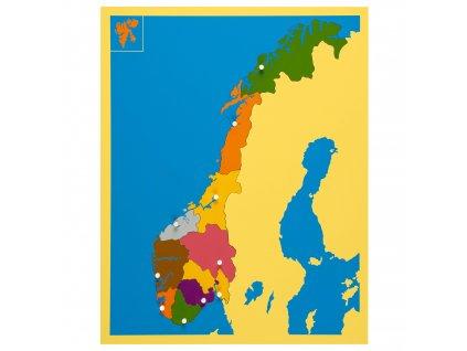 Puzzle mapa - Norsko