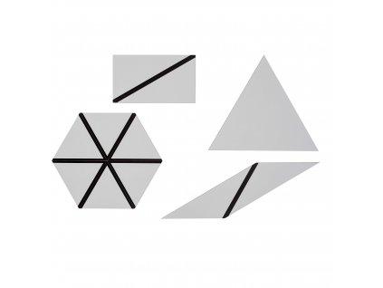 Set of Grey Constructive Triangles