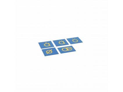 Sandpaper Letters: Nordic Print - Supplement Set