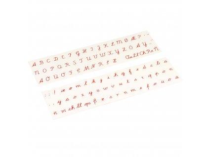 Printed Alphabet: International Cursive - Red