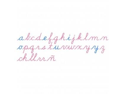 Dřevěná pohyblivá abeceda - US psací písmo