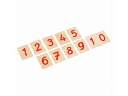 Číslice k Červeno-modrým tyčím, psací písmo