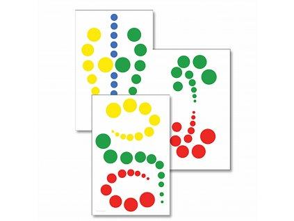 Karty se vzory pro Sadu barevných válečků bez úchytů