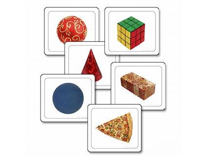 Obrázkové karty - vizuální rozlišování tvarů