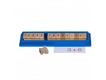 Sada dřevěných razítek s číslicemi