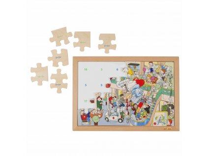 Počítací puzzle - sčítání do 20