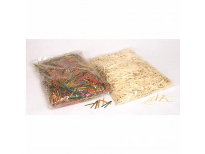 Matchsticks, bag of 4000 pieces in assorted colours