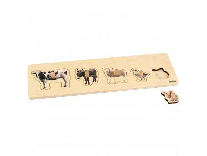 Puzzle pro nejmenší: 5 domácích zvířat