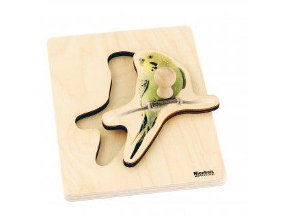 Puzzle pro nejmenší: papoušek