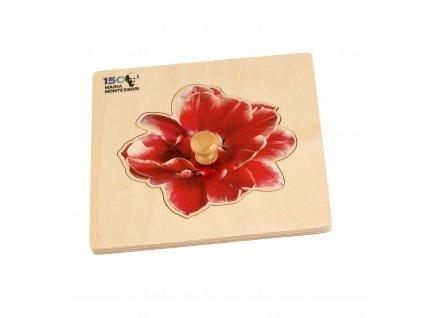 Puzzle pro nejmenší: Maria Montessori 150 (květ)