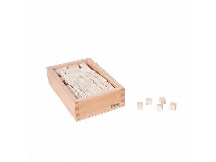 Krabička s 273 dřevěnými kostičkami 1x1x1 cm