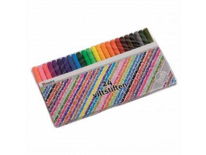 Felt tip pen Basic 24 colours assorted