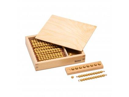 Krabička s perlami k Seguinově tabulce II. – umělé korálky samostatné