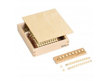 Krabička s perlami k Seguinově tabulce II. – skleněné korálky samostatné