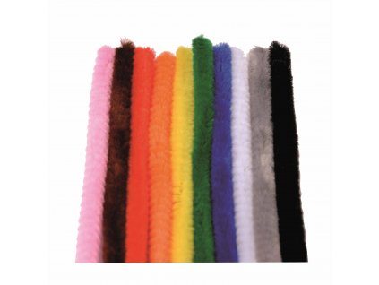 Chenille 200 pieces 10 colours assorted