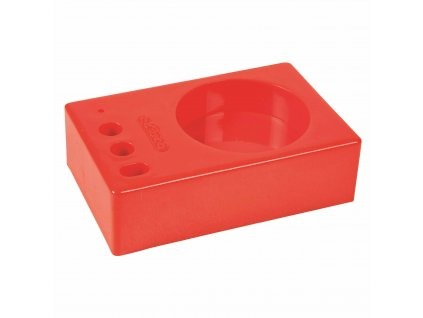 Material block plastic red for 1 pot