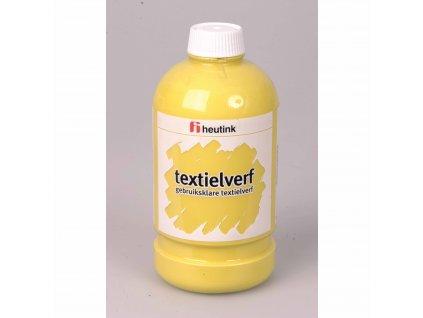 Barva na textil - žlutá, 500 ml