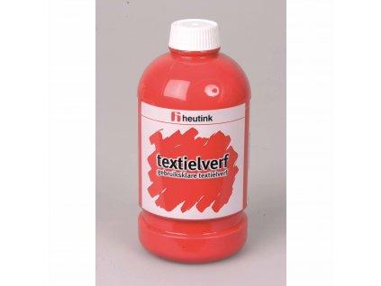 Barva na potisk textilu - červená, (500 ml)