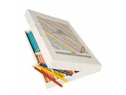 Pastelky Jumbo trojhranné Goldline, box se 144 kusy (12 ks od 12 barev)