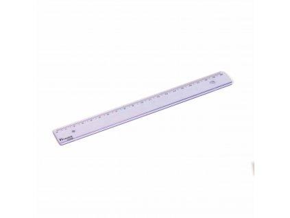 Plastic ruler populair 20 cm