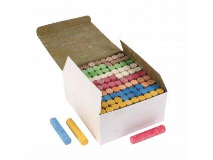 Sidewalk chalk box 100 pieces assorted colours