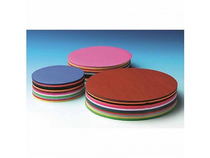 Craft paper 60 g round 12 cm 480 sheets 12 colours assorted